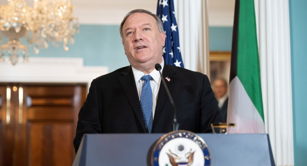 U.S. Secretary of State Mike Pompeo speaks to the media prior to meeting with Kuwait's Foreign Minister in Washington, D.C., U.S., November 24, 2020.