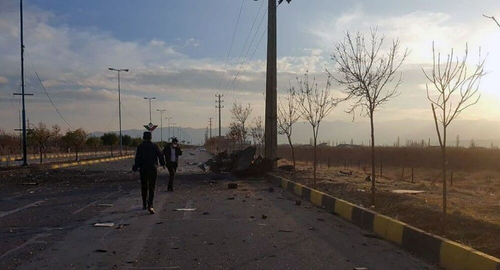 A view shows the site of the attack that killed Prominent Iranian scientist Mohsen Fakhrizadeh, outside Tehran, Iran, November 27, 2020.