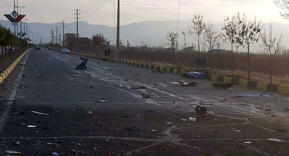 A view shows the site of the attack that killed Prominent Iranian scientist Mohsen Fakhrizadeh, outside Tehran, Iran, 27 November 2020.