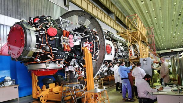 Preparation for launch of the Nauka ('Science') module to the ISS, July 2020. - Sputnik International