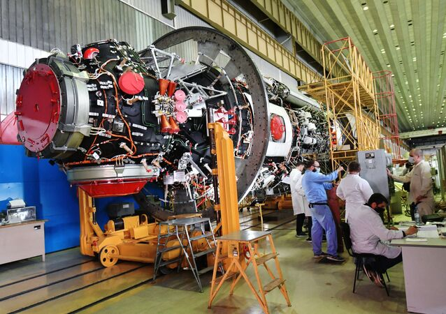 Preparation for launch of the Nauka ('Science') module to the ISS, July 2020.