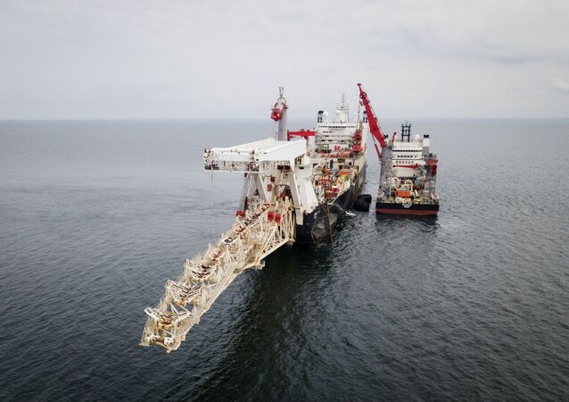 Nord Stream 2 gas pipeline installation