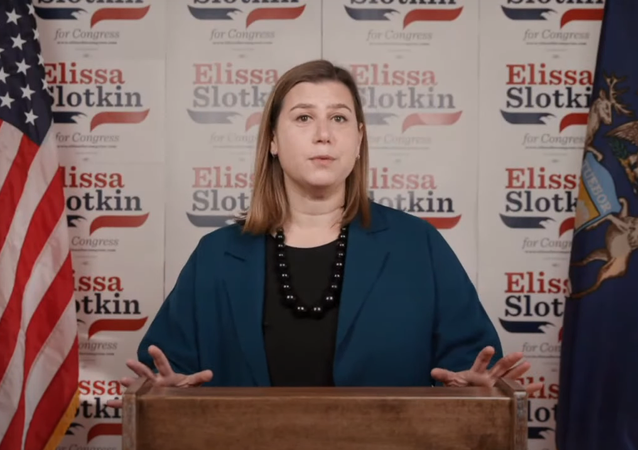 Elissa Slotkin. Screengrab from her campaign's YouTube video.