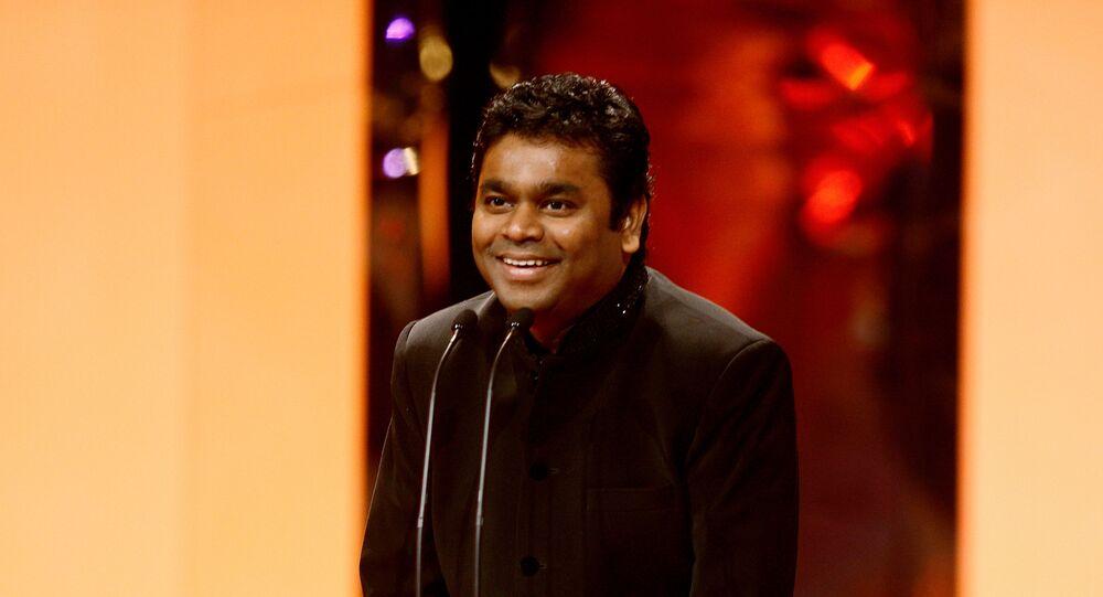 Winner of the Music Award for SLUMDOG MILLIONAIRE – A. R. Rahman.  Rahman was presented the award by Singer, Kylie Minogue.