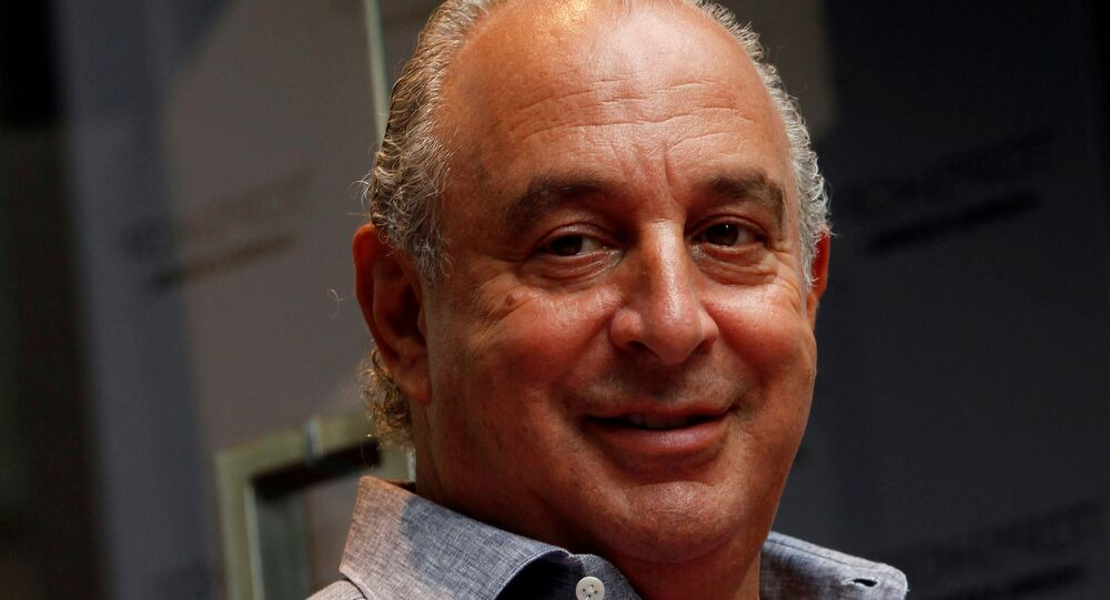 British billionaire and CEO of the Arcadia Group Sir Philip Green
