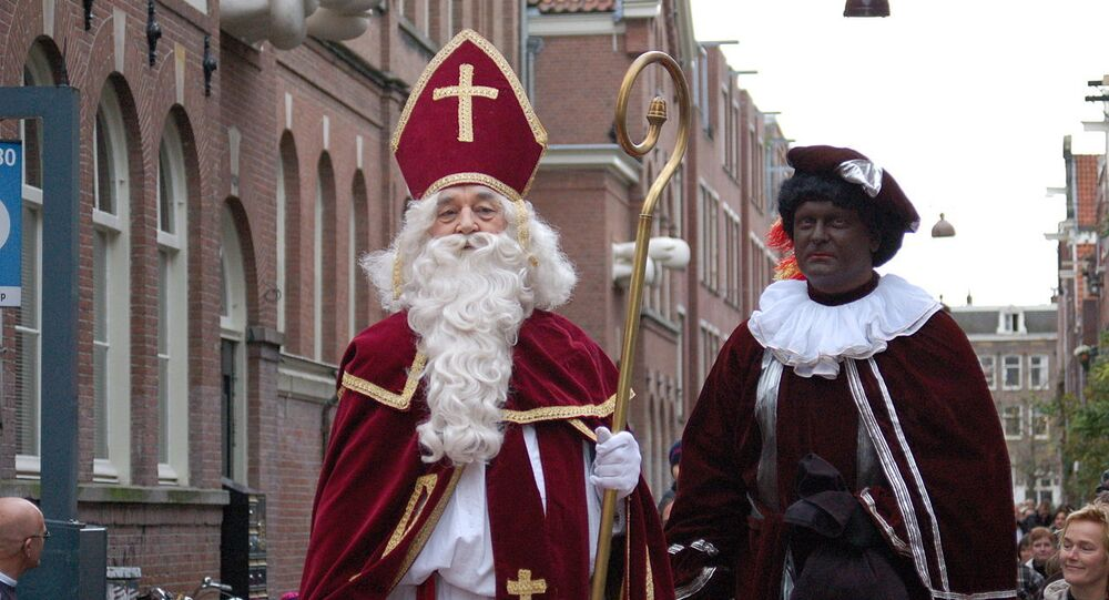 Sinterklaas (Saint Nicholas) and Zwarte Piet (Black Pete)
