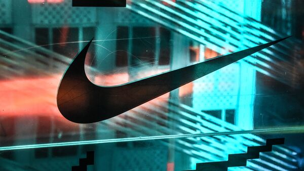 NEW YORK, NY - DECEMBER 20: A Nike logo is seen at the Nike flagship store on 5th Ave. on December 20, 2019 in New York City - Sputnik International