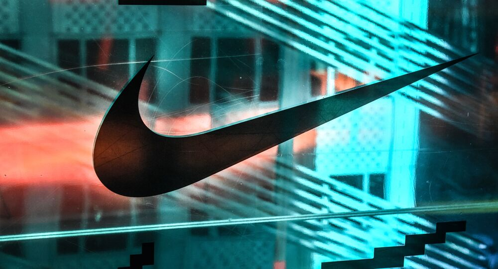 NEW YORK, NY - DECEMBER 20: A Nike logo is seen at the Nike flagship store on 5th Ave. on December 20, 2019 in New York City