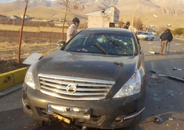 A view shows the scene of the attack that killed Prominent Iranian scientist Mohsen Fakhrizadeh, outside Tehran, Iran, November 27, 2020. WANA (West Asia News Agency)