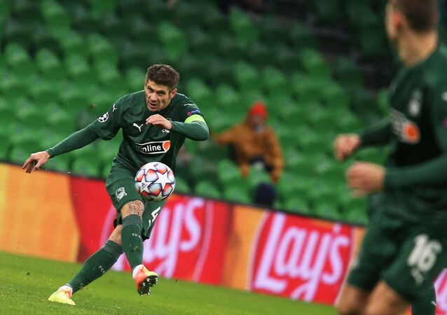 Krasnodar's Alexandr Martynovich during the fifth match of the group stage of the UEFA Champions League against Rennes