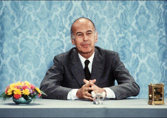 France's former President, Valerie Giscard d'Estaing, in 1980