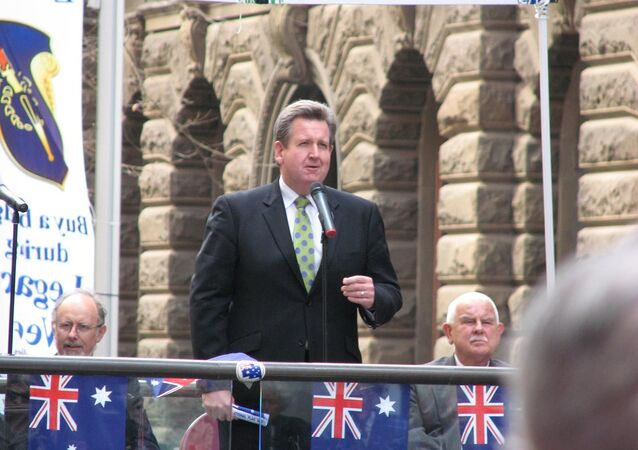Barry O'Farrell at Flag Day in Sydney