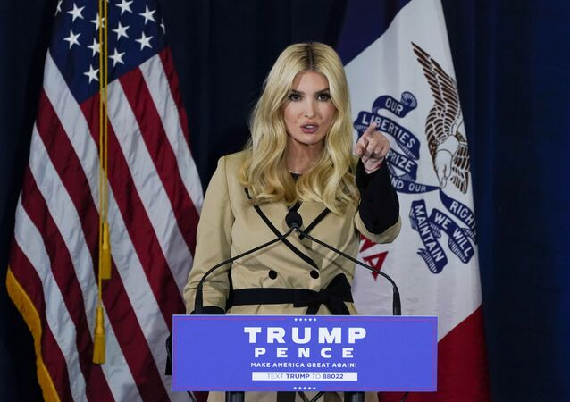 Ivanka Trump, daughter and adviser to President Donald Trump, speaks during a campaign event at the Iowa State Fairgrounds, Monday, Nov. 2, 2020, in Des Moines, Iowa.