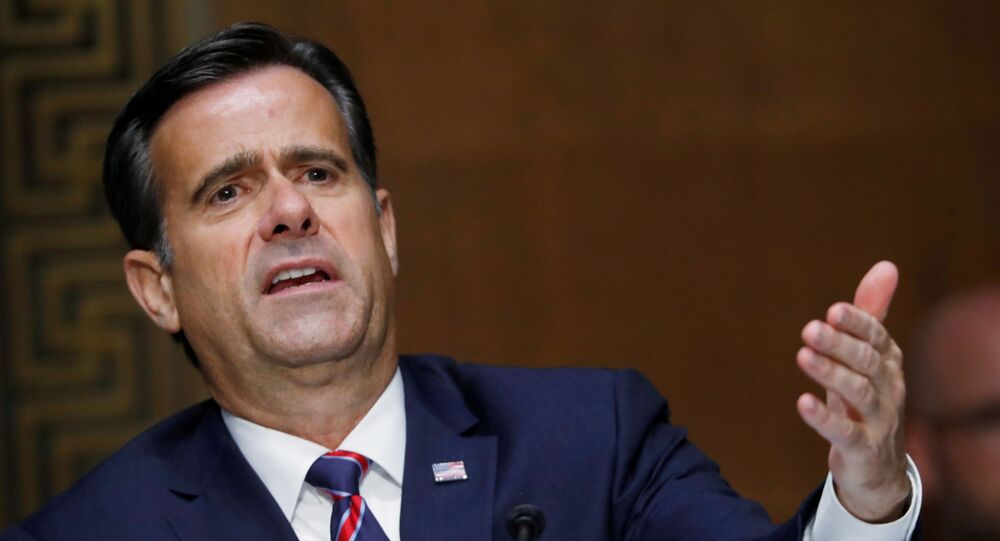 Rep. John Ratcliffe, R-TX, testifies before a Senate Intelligence Committee nomination hearing on Capitol Hill in Washington, U.S., May 5, 2020.