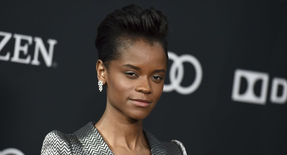 Letitia Wright arrives at the premiere of Avengers: Endgame at the Los Angeles Convention Center on Monday, April 22, 2019