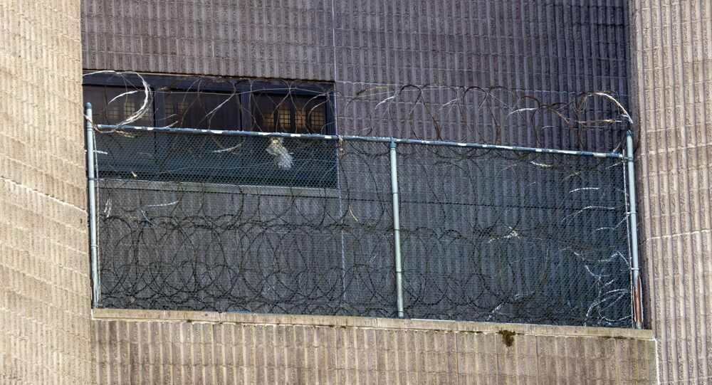The Metropolitan Correctional Center where financier Jeffrey Epstein was being held, on August 10, 2019, in New York.