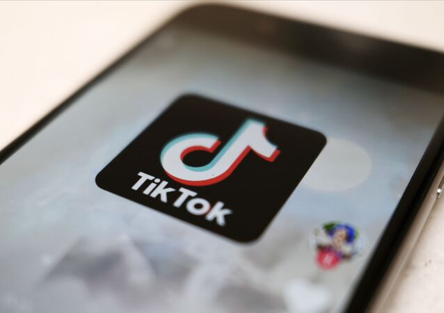 A logo of a smartphone app TikTok is seen on a user post on a smartphone screen Monday, Sept. 28, 2020, in Tokyo
