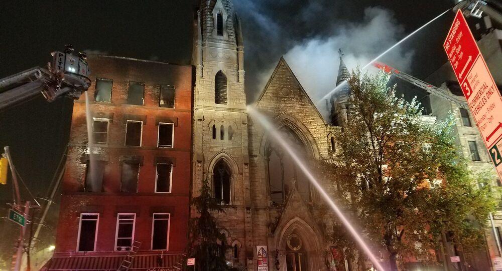Devastating New York City fire destroys 19th-century church, a 'beloved' institution