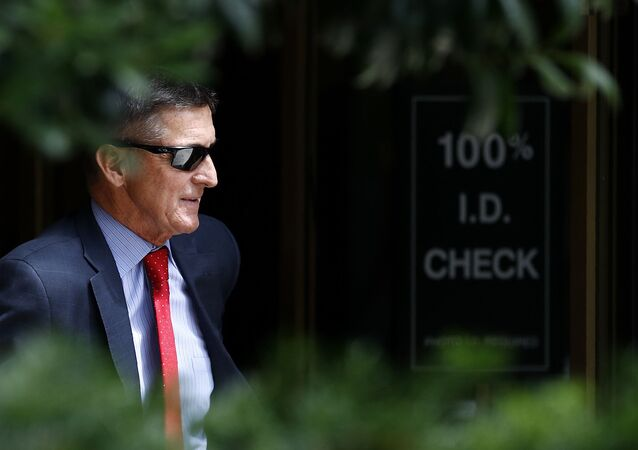 Michael Flynn, President Donald Trump's former national security adviser, departs a federal courthouse after a hearing, Monday, June 24, 2019, in Washington