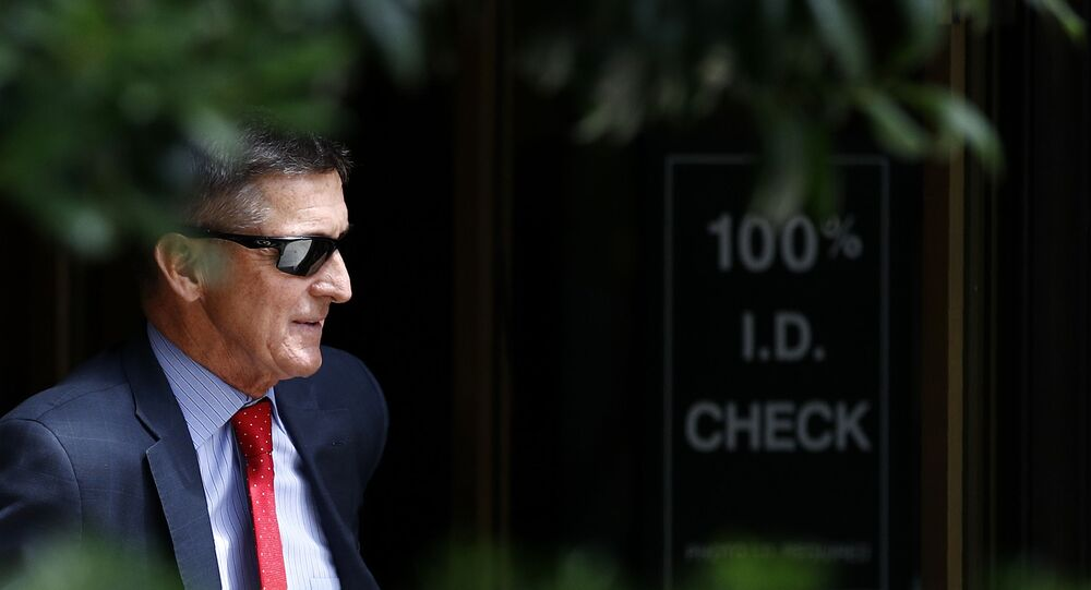 Michael Flynn, President Donald Trump's former national security adviser, departs a federal courthouse after a hearing, Monday, 24 June 2019, in Washington