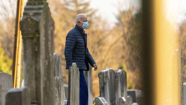 President-elect Joe Biden arrives at St. Joseph On the Brandywine Roman Catholic Church, Saturday, Dec. 5, 2020, in Wilmington, Del. - Sputnik International