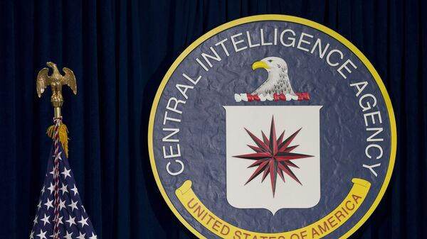 This April 13, 2016 file photo shows the seal of the Central Intelligence Agency at CIA headquarters in Langley, Va. James Pars, a CIA intelligence officer, says his career was derailed after he complained that his boss at a base in a conflict zone repeatedly ordered personnel to travel through dangerous areas on non-essential trips to shop and buy food - Sputnik International