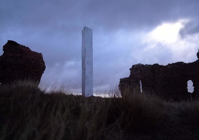 Spain: New metal monolith appears in the ruins of a church in Ayllon