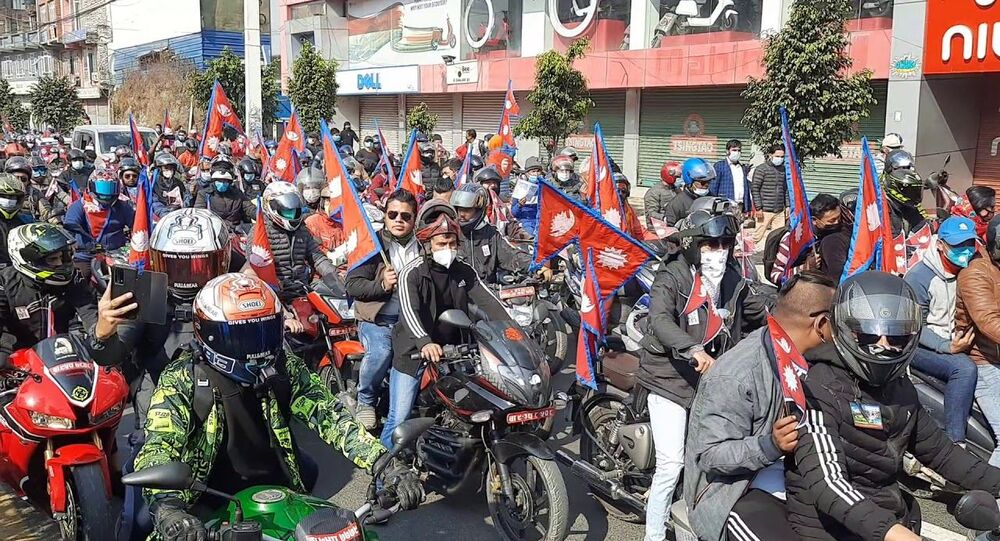 Nepal protest calling for monarchy restoration, Hindu state