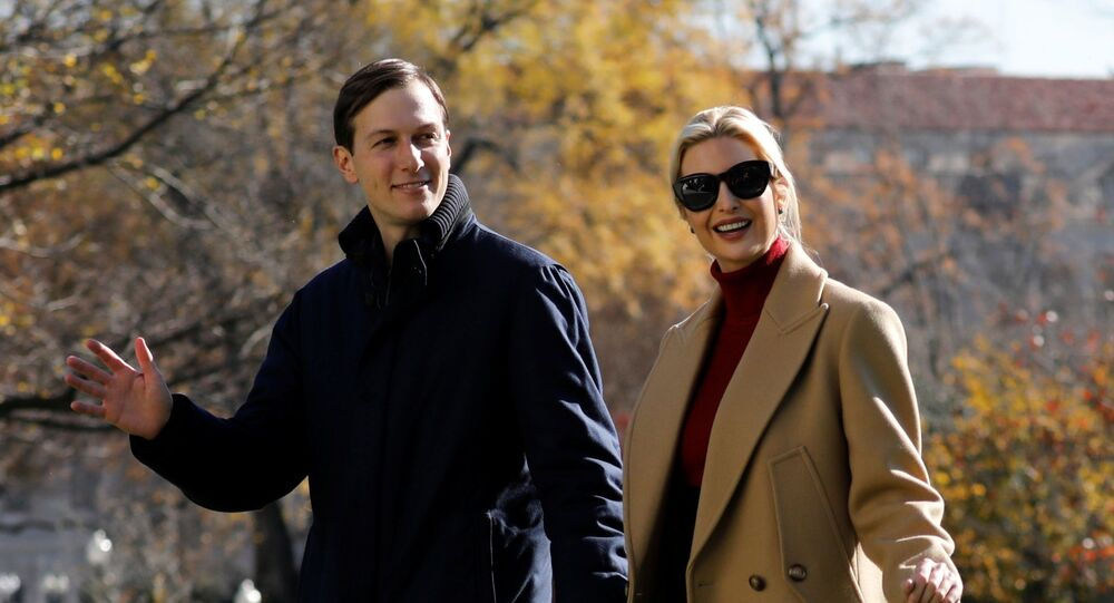 Ivanka Trump and her husband Jared Kushner walk on the South Lawn of the White House upon their return to Washington with U.S. President Donald Trump from Camp David, U.S., November 29, 2020