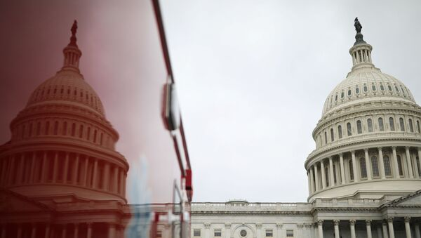 The U.S. Capitol Building is reflected on an ambulance on Capitol Hill in Washington, U.S., December 4, 2020. - Sputnik International