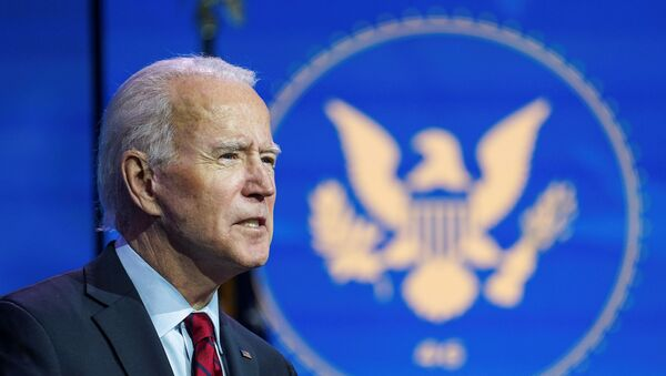U.S. President-elect Joe Biden announces nominees and appointees to serve on his health and coronavirus response teams during a news conference at his transition headquarters in Wilmington, Delaware, U.S., December 8, 2020. - Sputnik International