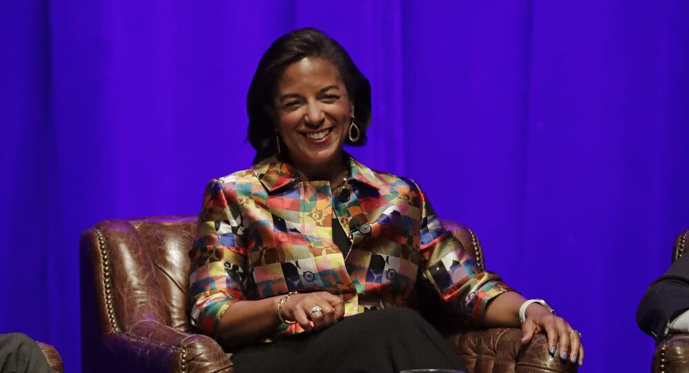Former national security adviser Susan Rice takes part in a discussion on global leadership at Vanderbilt University Wednesday, Feb. 19, 2020, in Nashville, Tenn. (AP Photo/Mark Humphrey)