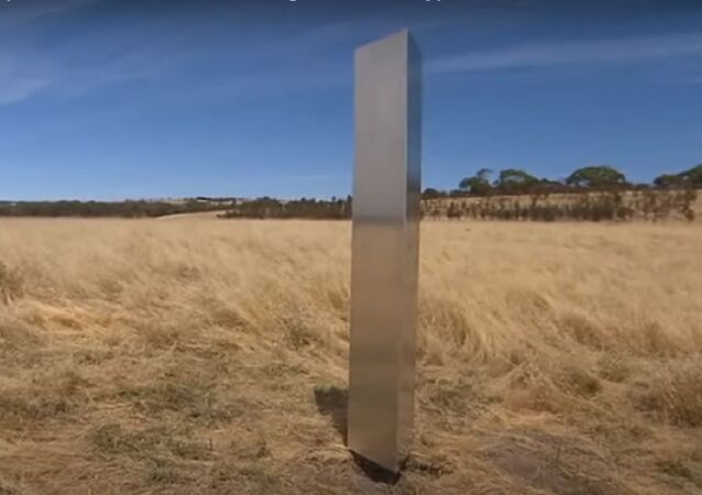 Australia's first monolith appears in Adelaide's south, engraved with cryptic coordinates
