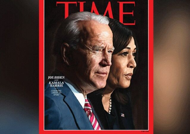 Time Magazine's Person of the Year 2020 cover featuring President-elect Joe Biden and Vice President-elect Kamala Harris