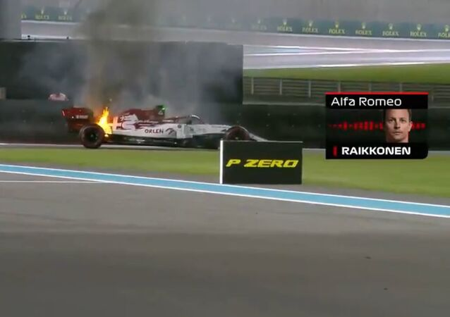 A video of the incident has been posted on the official F1 Twitter account.