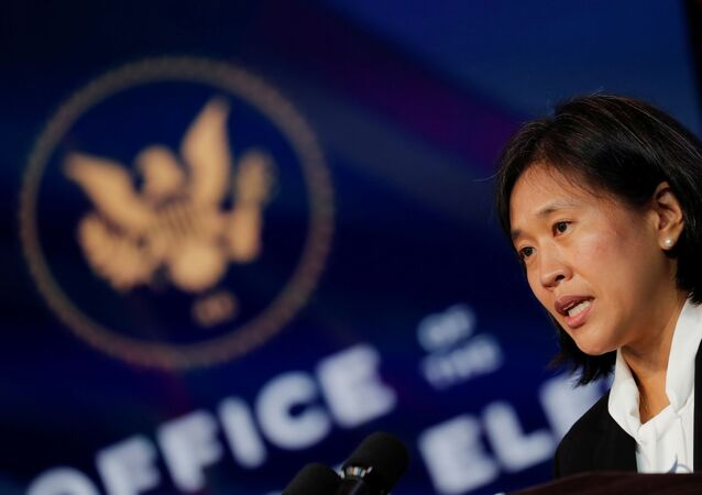 Katherine Tai, U.S. President-elect Joe Biden's nominee to be U.S. Trade Representative, speaks after Biden announced her nomination during a fresh round of nominations and appointments at a news conference at his transition headquarters in Wilmington, Delaware, U.S., December 11, 2020.