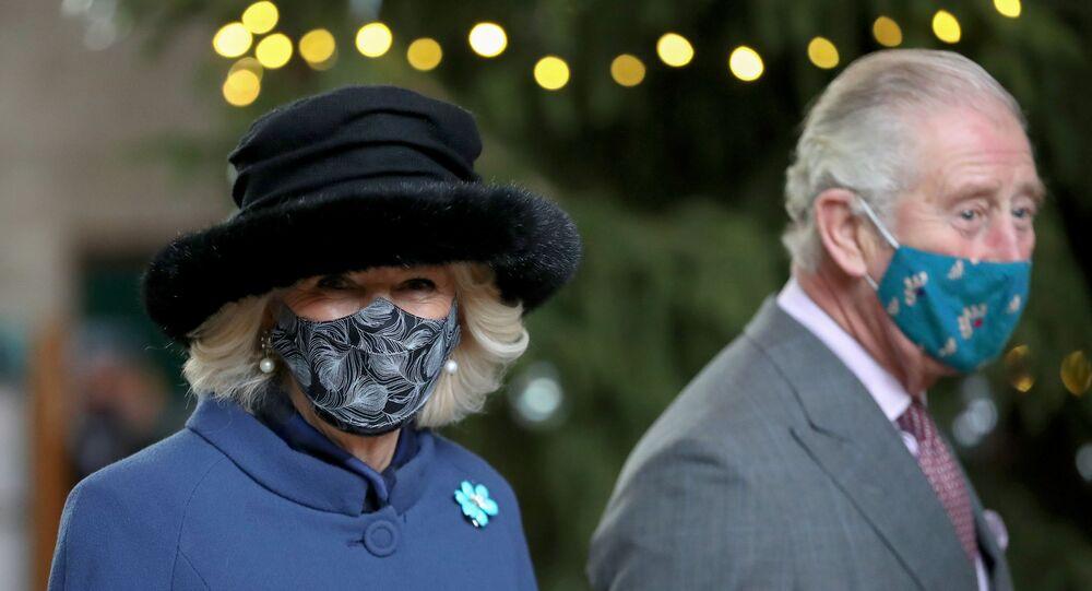 Britain's Prince Charles and Camilla, Duchess of Cornwall, visit Salisbury Cathedral