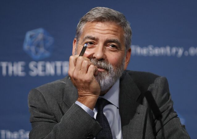 US actor and activist George Clooney speaks at a press conference about South Sudan in London, Thursday, 19 September 2019