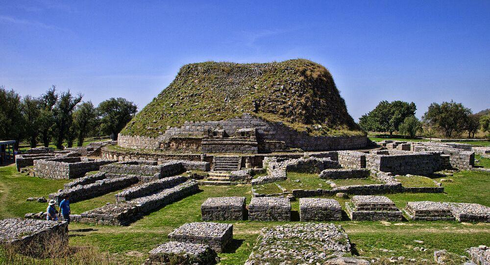 The Dharmarajika stupa, Taxila