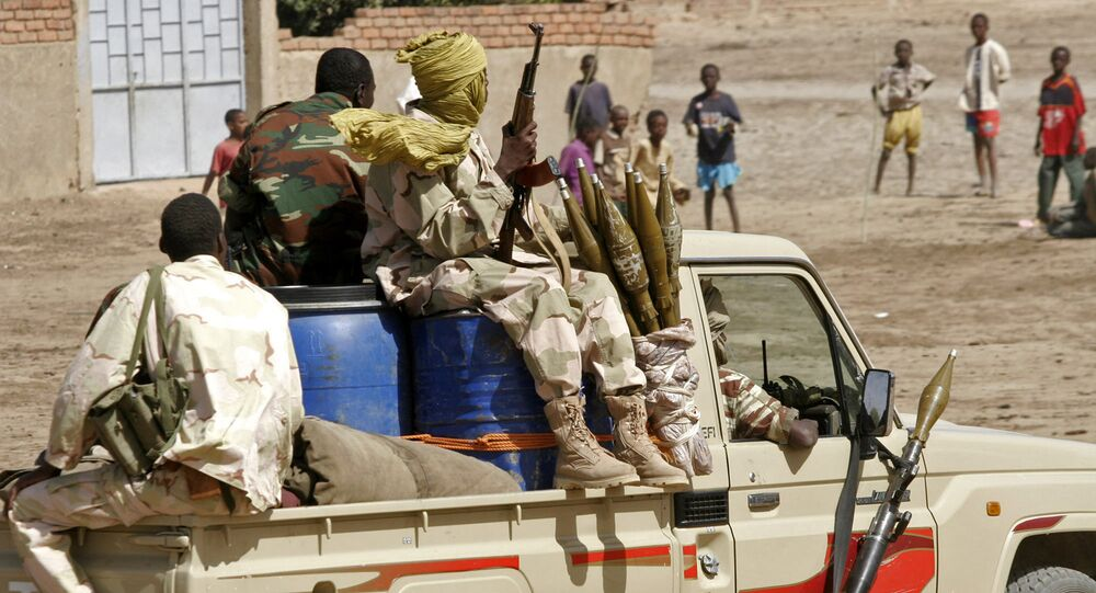 Chadian troops patrol the streets (File)