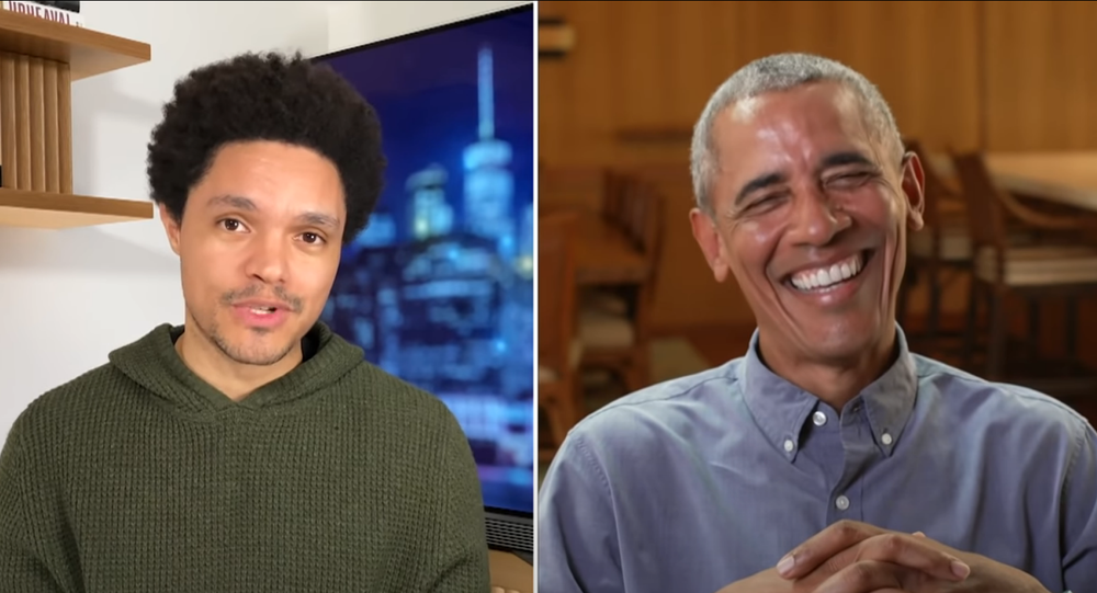 Barack Obama speaks on The Daily Show with Trevor Noah.