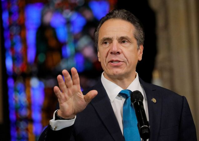 New York Governor Andrew Cuomo delivers remarks on the coronavirus disease (COVID-19) at the Riverside Church in Manhattan, New York City, U.S., November 15, 2020.