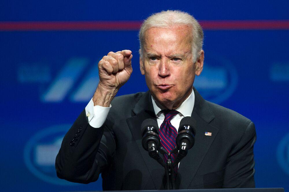 Vice President Joe Biden addresses the White House Summit on the United State of Women in Washington, Tuesday, 14 June,  2016.