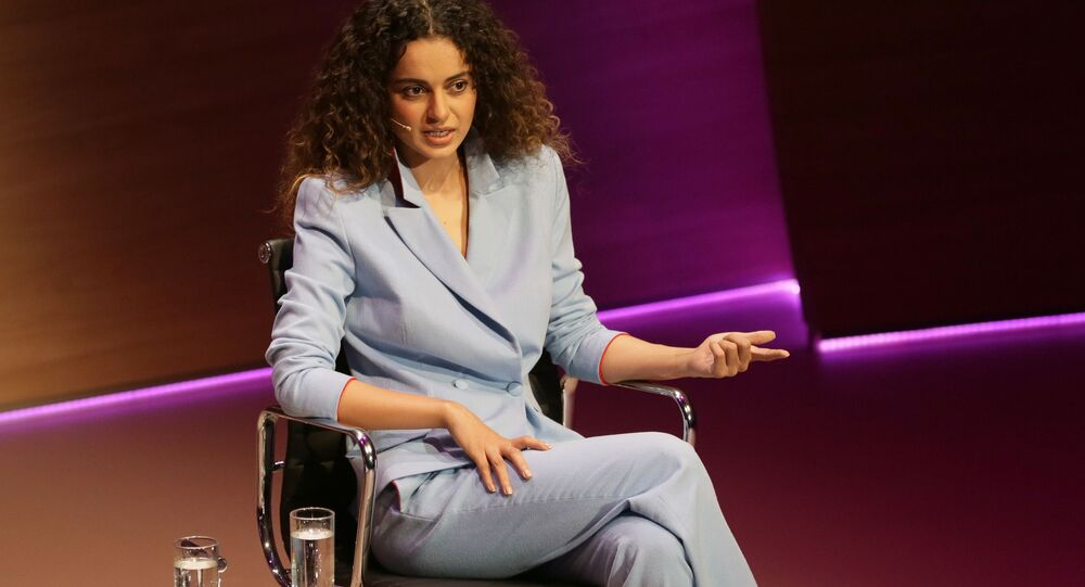 Bollywood actress Kangana Ranaut speaks during the Women in the World Summit at Cadogan Hall in London, Friday Oct. 9, 2015