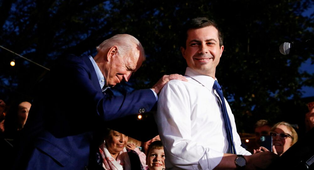 Former Democratic presidential candidate Pete Buttigieg endorses former U.S. Vice President Joe Biden at Chicken Scratch in Dallas, Texas, U.S., March 2, 2020.