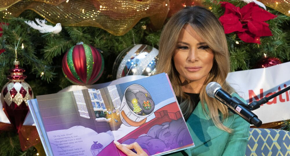 Melania Trump Violates Policy, Takes Off Face Mask To Read To Children