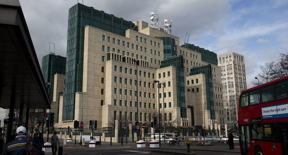 This Thursday, 5 March 2015 file photo shows a general view of the MI6 building in London