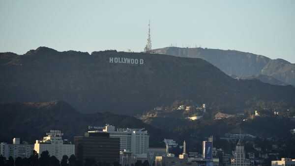 The Hollywood sign is seen above Los Angeles, Friday, July 31, 2020, in Los Angeles. - Sputnik International