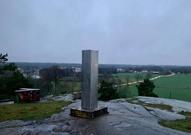 Mysterious monolith appeared in Katrineholm