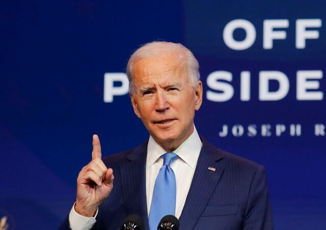 U.S. President-elect Joe Biden speaks to reporters as he announces more nominees and appointees during a news conference at his transition headquarters in Wilmington, Delaware, U.S., December 11, 2020